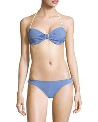 Shoshanna - Knot Bikini Top - Lyst