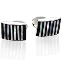 David Donahue - Sterling Silver, Onyx & Mother Of Pearl Cuff Links - Lyst