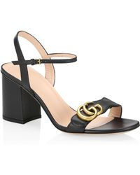 Gucci - Marmont GG Ankle-strap Sandals - Lyst