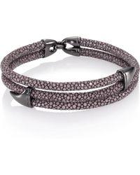 Stinghd - Blackened Silver & Stingray Wrap Shark Fin Bracelet - Lyst