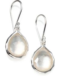 Ippolita - Mother-of-pearl, Clear Quartz & Sterling Silver Earrings - Lyst