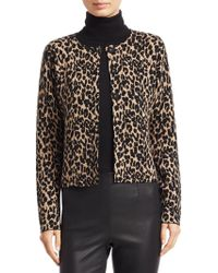 Saks Fifth Avenue - Collection Leopard Print Doubleface Cropped Jacket - Lyst