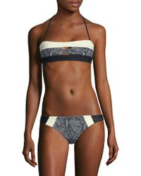 Pilyq - Colorblock Bandeau Bikini Top - Lyst