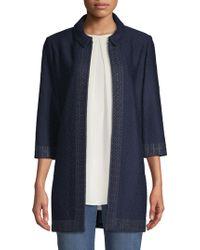 St. John - Knit-trim Jacket - Lyst