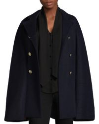 L'Agence - Kelly Double-breasted Cape - Lyst