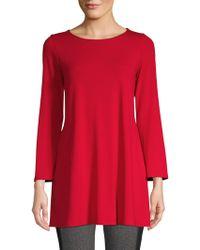 7980fc26d99 Eileen Fisher - Women's Kimono Sleeve Tunic - Black - Lyst