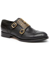 Gucci - Queercore Studded Brogue Monk Shoes - Lyst