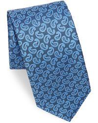 Eton of Sweden - Pine Paisley Silk Tie - Lyst