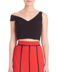 ABS By Allen Schwartz - One-shoulder Cropped Top - Lyst