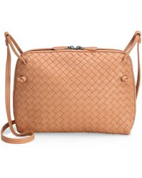 c5788f63e14c Bottega Veneta - Pillow Intrecciato Leather Crossbody Bag - Lyst