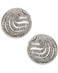 Adriana Orsini - Wisp Crystal Button Earrings - Lyst