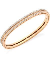 Roberto Coin - Portofino 18k Rose Gold & Diamond Bangle - Lyst