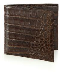 Santiago Gonzalez | Crocodile Billfold Wallet | Lyst