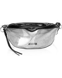 Rebecca Minkoff - Women's Bree Pvc Belt Bag - Smoke - Lyst