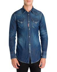 DSquared² - Western Denim Button-down Shirt - Lyst