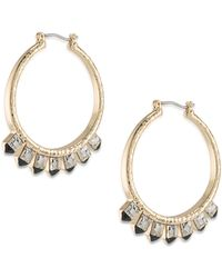 ABS By Allen Schwartz - Rock It Out Charmed Hoop Earrings/1.5 - Lyst