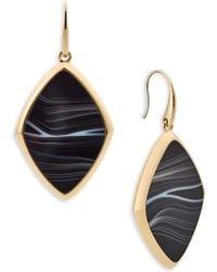 Michael Kors - Cool & Classic Black Agate Earrings - Lyst