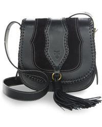 Frye - Whipstitch Leather Shoulder Bag - Lyst