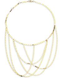 Lana Jewelry - 15-year Anniversary 14k Yellow Gold Nude Fringe Chain Choker - Lyst