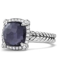 David Yurman - Chatelaine? Pave Bezel Ring With Black Orchid And Diamonds - Lyst