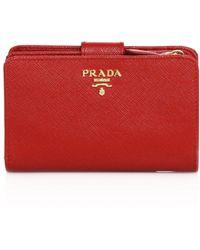 Prada - Saffiano Leather Wallet - Lyst