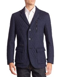 Etro - Button-down Quilted Sportcoat - Lyst