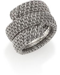 John Hardy - Classic Chain Sterling Silver Double Coil Ring - Lyst