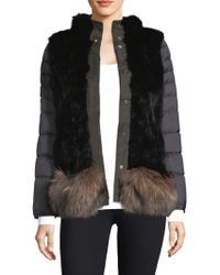 Post Card - Reversible Quilted Fur Jacket - Lyst