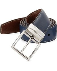 Saks Fifth Avenue - Collection Contrast Stitch Reversible Leather Belt - Lyst