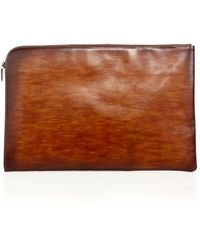 Saks Fifth Avenue - Saks Fifth Avenue By Magnanni Hand Burnished Leather Portfolio - Lyst