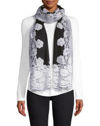 Bindya - Cashmere & Silk Evening Lace Shawl - Lyst