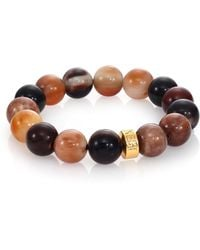 Nest - Horn Beaded Stretch Bracelet - Lyst