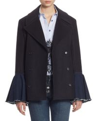 Each x Other - Hybrid Bell-sleeve Peacoat - Lyst