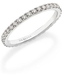 De Beers - Classic Diamond & Platinum Full Eternity Band Ring - Lyst