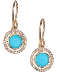 Astley Clarke - Biography Celestial Turquoise, Diamond & 14k Yellow Golddrop Earrings - Lyst