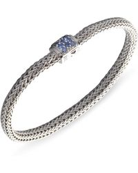 John Hardy - Classic Chain Sapphire & Sterling Silver Extra-small Bracelet - Lyst