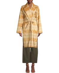 Lafayette 148 New York - Women's Vincenza Silk Plaid Topper Coat - Sesame Multi - Size Xs - Lyst
