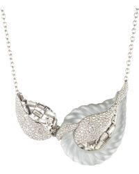 Alexis Bittar - Frosted Crystal Paisley Rope Hinged Bib Necklace - Lyst