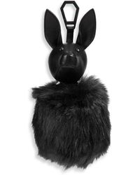 Kendall + Kylie - Bambi Leather & Faux Fur Pom-pom Bag Charm - Lyst