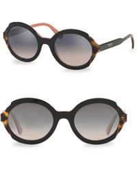 Prada - 53mm Tortoise Gradient Sunglasses - Lyst