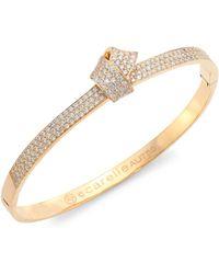 Carelle - Knot Diamond & 18k Rose Gold Bangle - Lyst