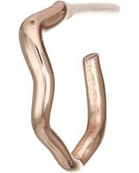 Kismet by Milka - 14k Rose Gold Small Wavy Single Earring - Lyst