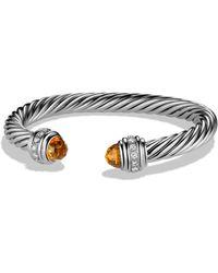 David Yurman - Cable Classics Bracelet With Diamonds - Lyst
