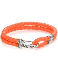 John Hardy | Classic Chain Silver Hook Station Leather Bracelet | Lyst
