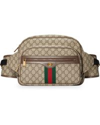 31e36820bfc Lyst - Gucci Washed Leather Messenger Bag in Brown for Men