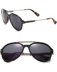 Lanvin - 57mm Metal & Acetate Aviator Sunglasses - Lyst
