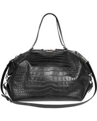 Givenchy Crocodile-Embossed Leather Nightingale Tote Bag in Black ... b89964e20fbc5