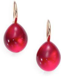 Pomellato - Rouge Passion Burma Cabochon Drop Earrings - Lyst