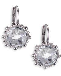 Anzie - Dew Drop Snowflake White Topaz Drop Earrings - Lyst