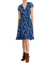 Polo Ralph Lauren - Hanah Floral Wrap Dress - Lyst